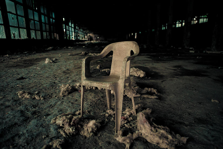 Chair Photograph - Abandoned Chair by Luka Matijevec