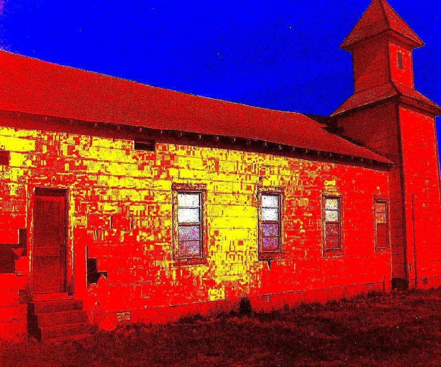 Andy Warhol Digital Art - Abandoned Church by Robert Grubbs