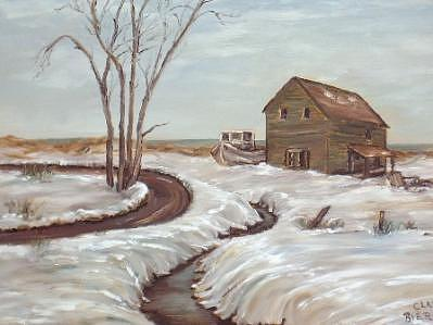 Barn Painting - Abandoned by Clara  Bierman