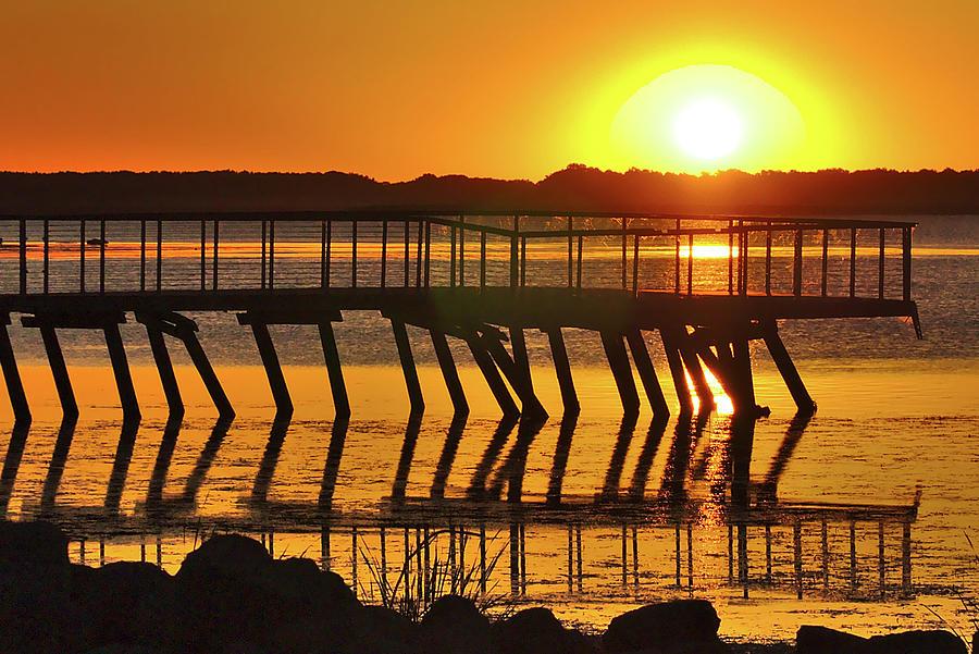 Sunrise Photograph - Abandoned Dock by Brad Chambers