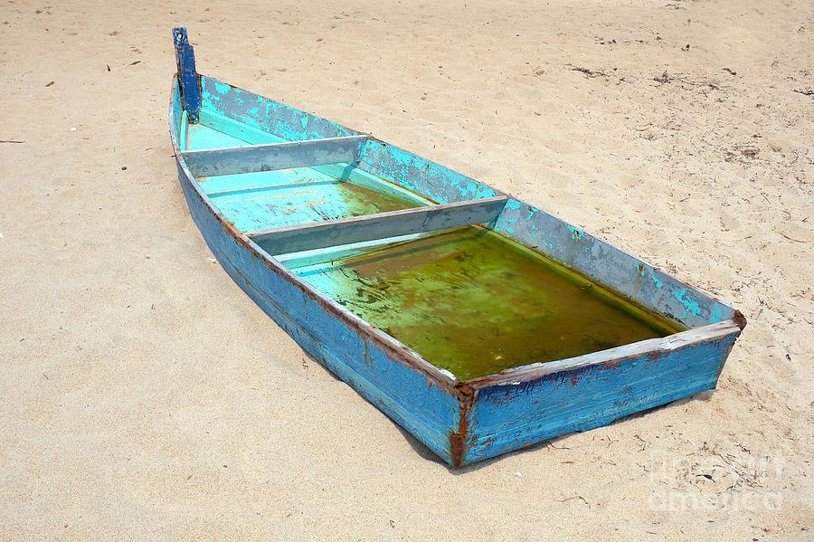 Boat Photograph - Abandoned by Edward Sobuta