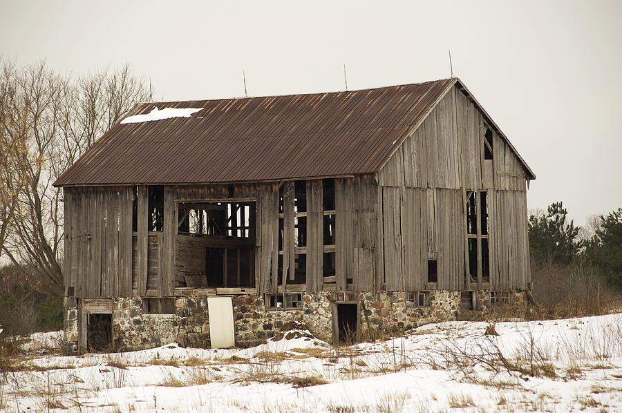 Farm Photograph - Abandoned by Elaine Mikkelstrup