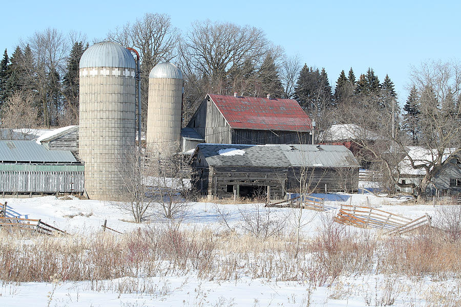 Barn Photograph - Abandoned Farm In Central Minnesota by Laurie With