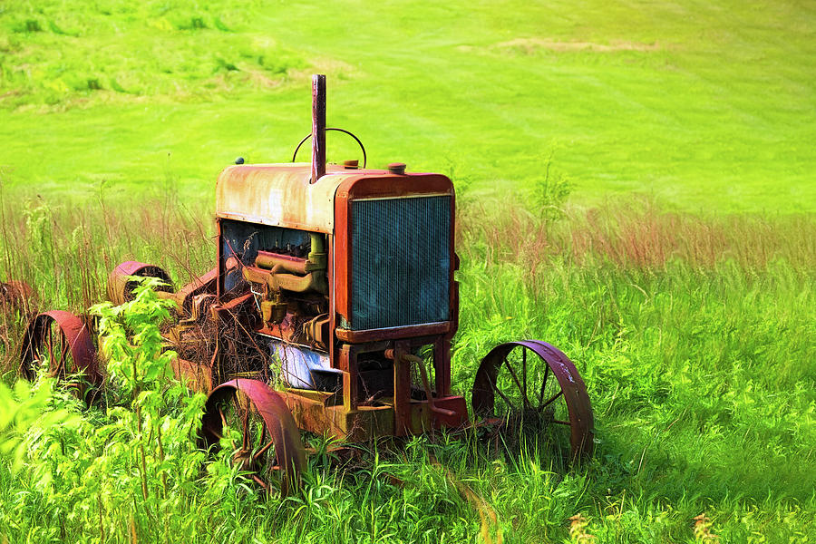 Tractor Photograph - Abandoned Farm Tractor by Tom Mc Nemar