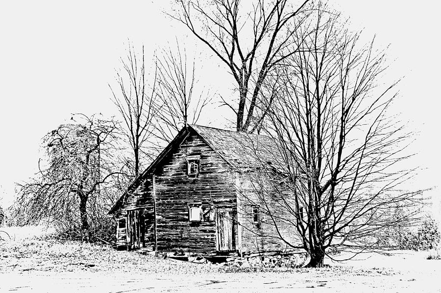 Farmhouses Photograph - Abandoned Farmhouse In The Michigan Countryside by Toni Abdnour