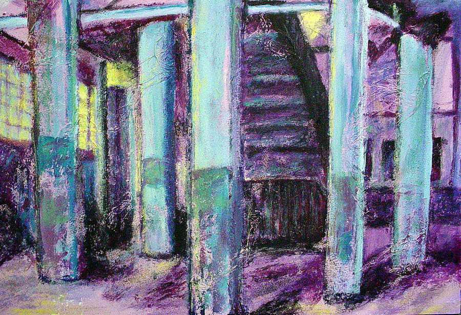 Firehouse Painting - Abandoned Firehouse by Sarah Crumpler