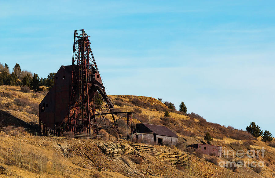 Abandoned Gold Mine In Victor Colorado Photograph
