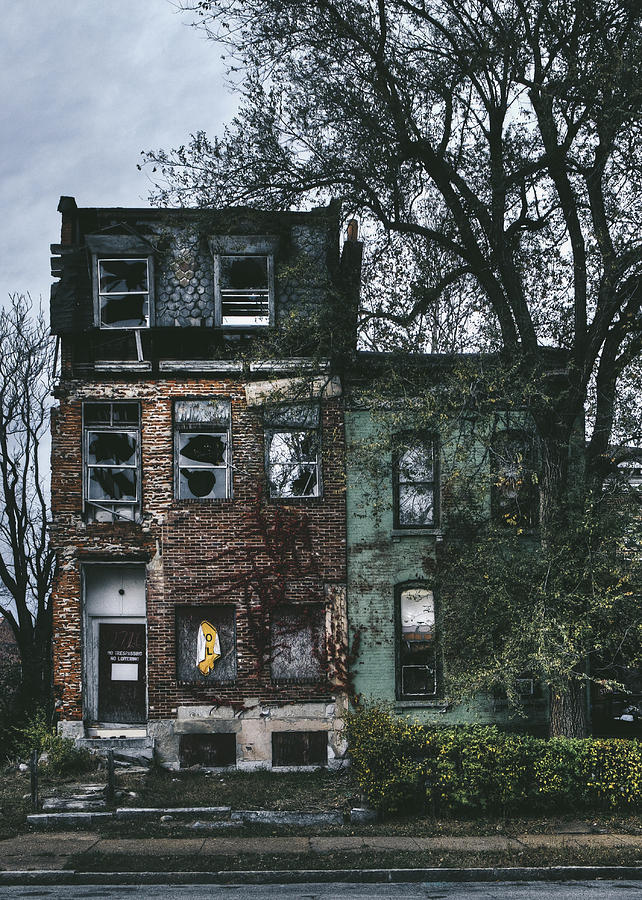 Abandoned Houses In Old North Saint Louis City Photograph ...