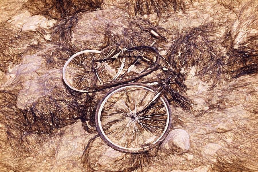 Bike Photograph - Abandoned - Impressions by Susie Peek
