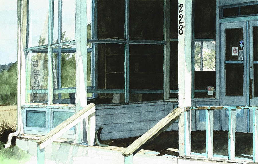 Architecture Painting - Abandoned Old Store by Perry Woodfin