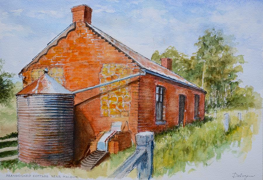 House Painting - Abandoned Red Brick Cottage Near Maldon by Dai Wynn