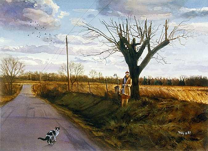 Abandoned Painting - Abandoned by Robert Tracy