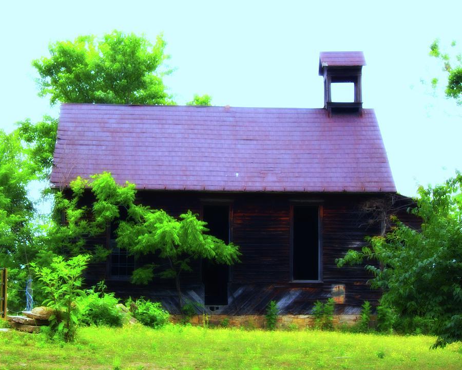 One Photograph - Abandoned School House by John Feiser