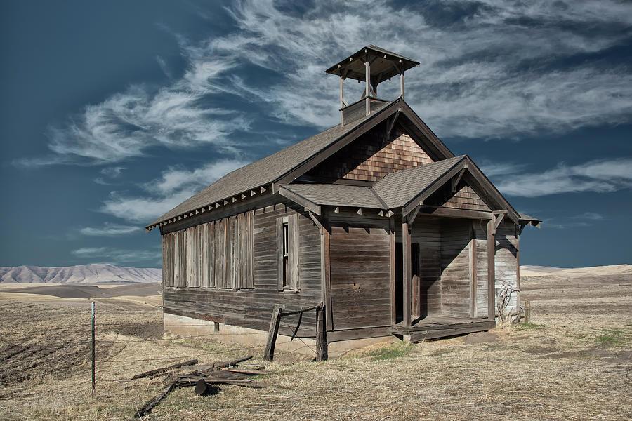 Abandoned Photograph - Hilltop Schoolhouse by Gej Jones