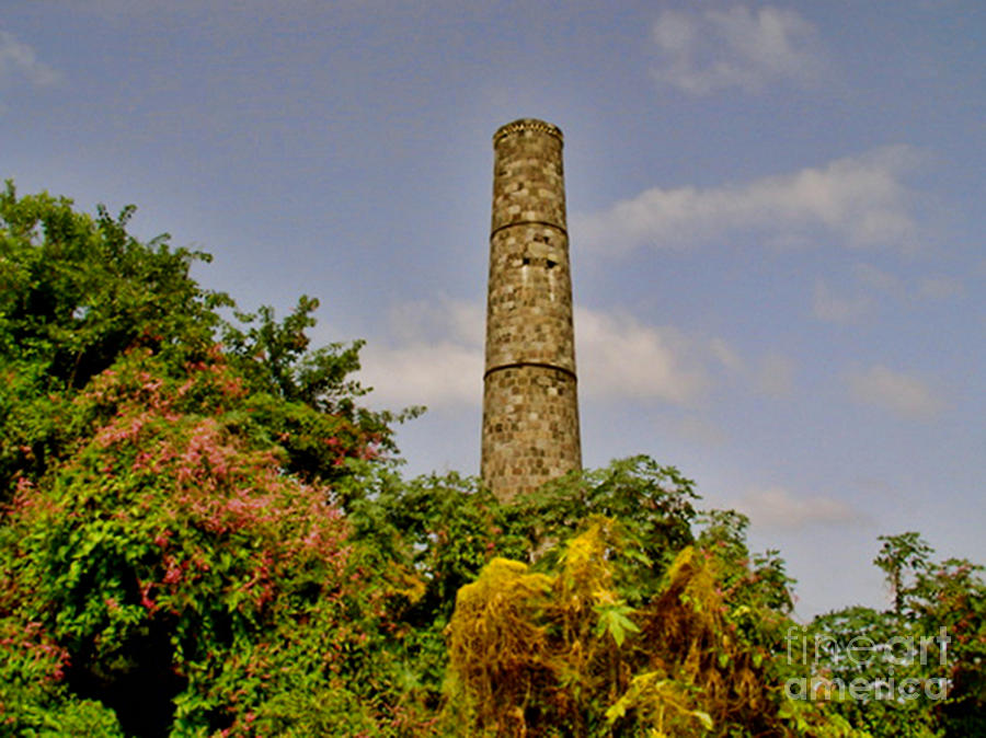Nevis Photograph - Abandoned Sugar Factory Nevis by Louise Fahy