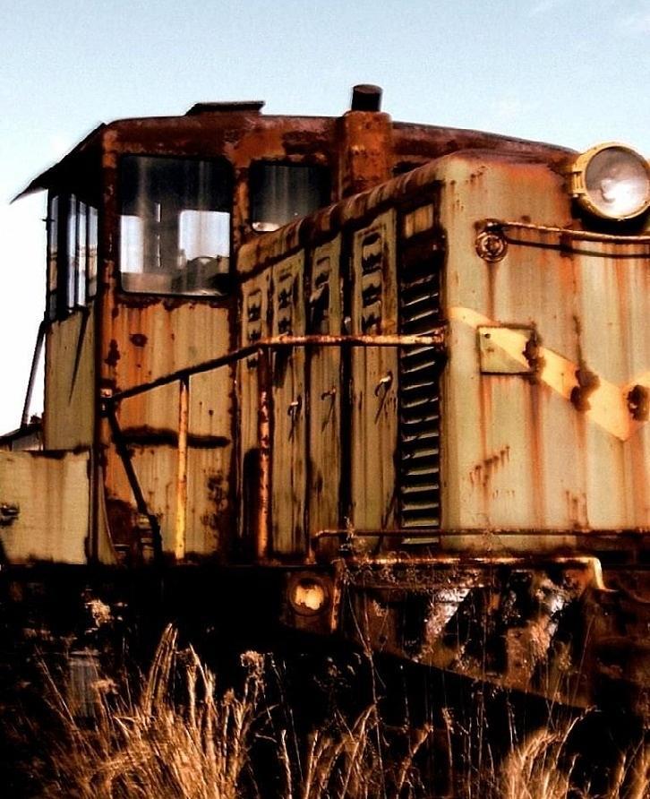 Train Photograph - Abandoned Train by Jen McKnight