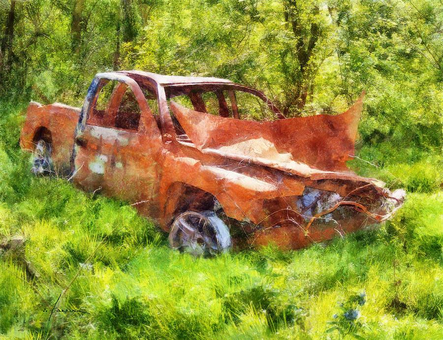 Truck Digital Art - Abandoned Truck by Francesa Miller