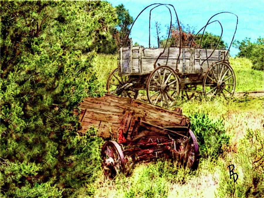 Abandoned Wagons by Ric Darrell