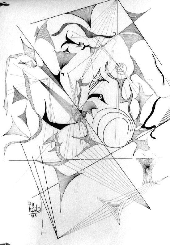 Flowers Drawing - Abandonment Tired Girl by Paul Bonnie Kent