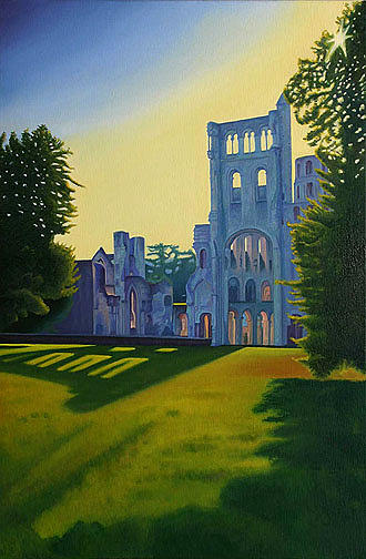 Landscape Painting - Abbey at Jumieges by Stephen Degan