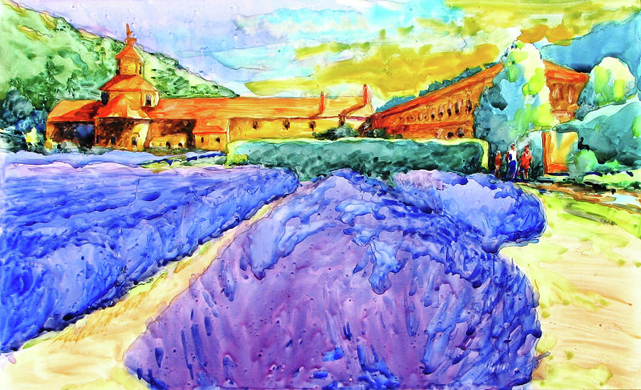 Abbey de senanque provence no 1 painting by virgil carter landscape painting abbey de senanque provence no 1 by virgil carter thecheapjerseys Images
