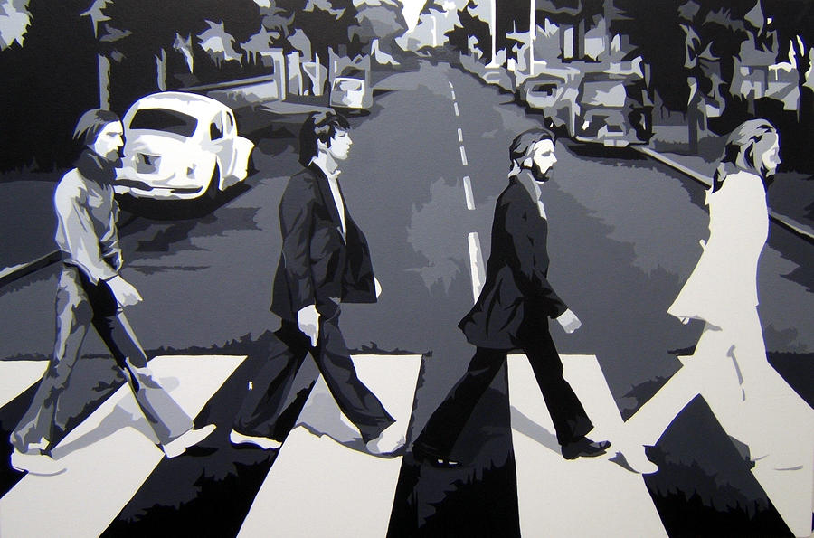Beatles Painting - Abbey Road-commissioned Painting by Michael James Toomy