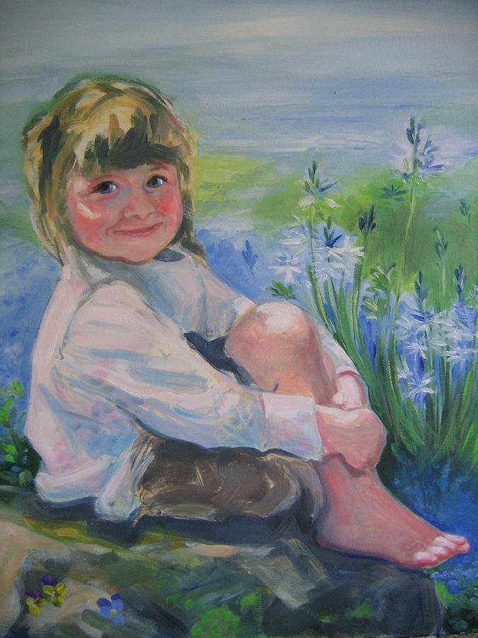 Child Painting - Abbie by Carolyn Favor Kibbe
