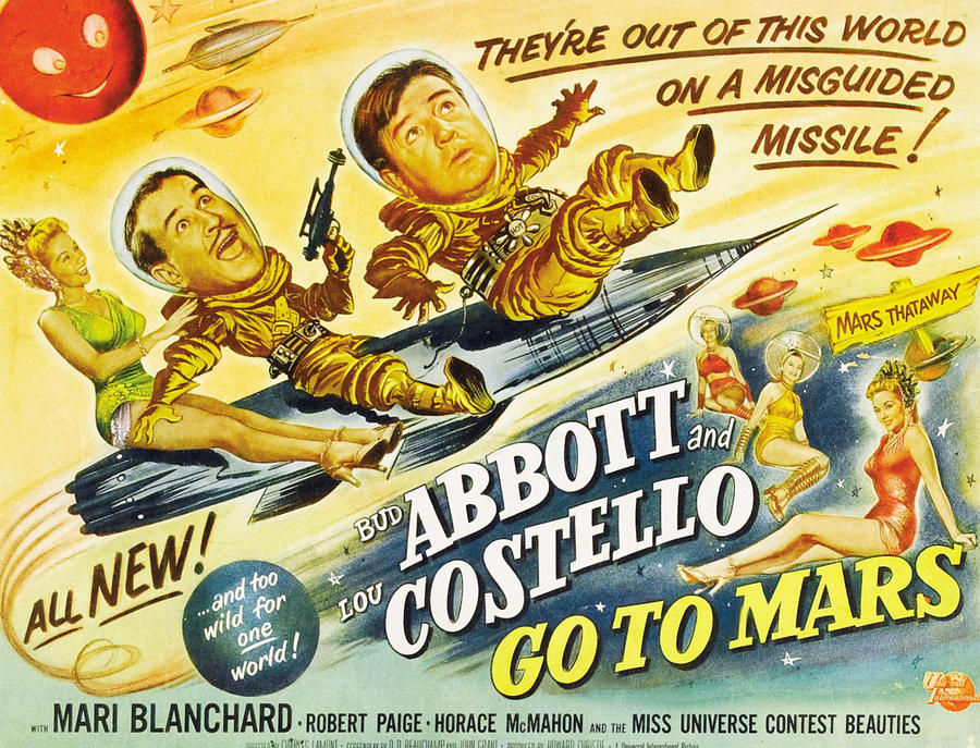 1953 Movies Photograph - Abbott And Costello Go To Mars, Bud by Everett