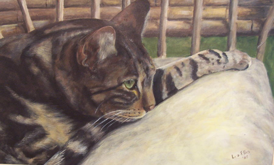 Cat Painting - Abby by Elizabeth Ellis