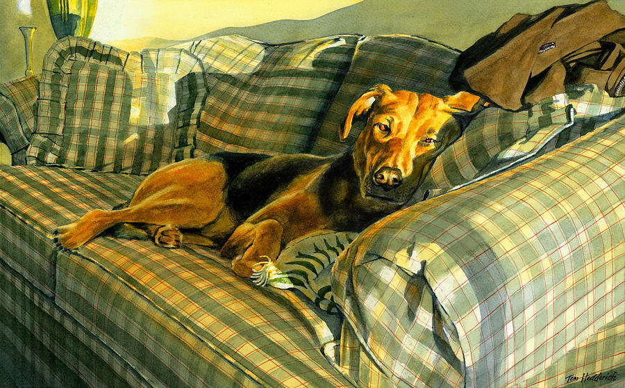 Dog Painting - Abby by Tom Hedderich