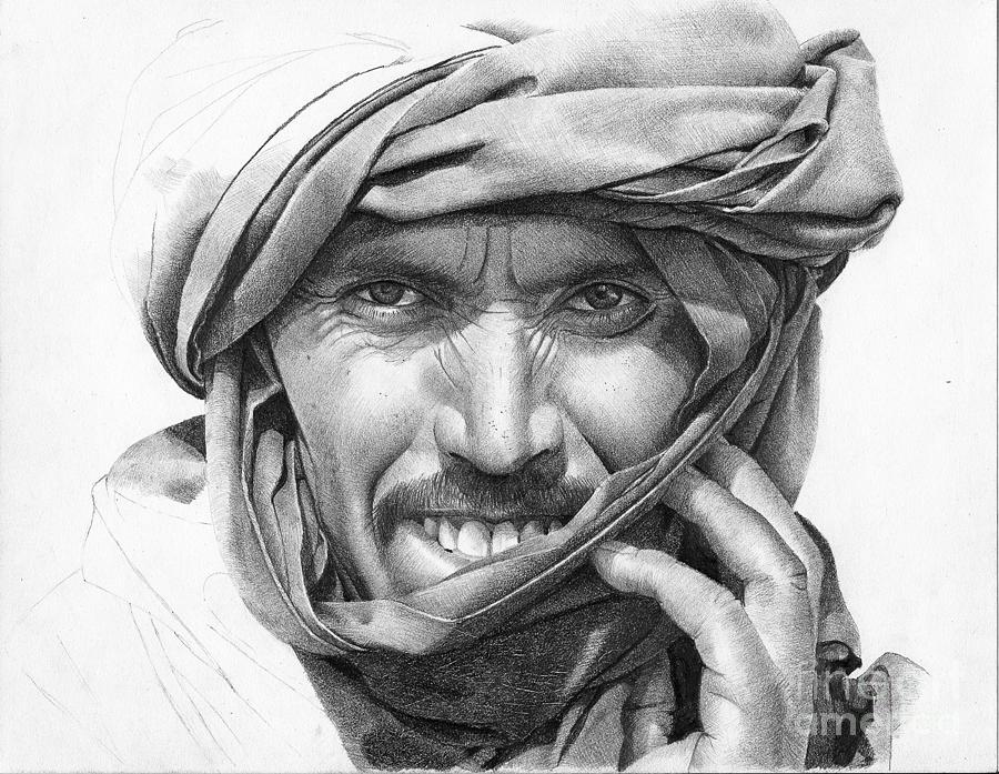 Vanderpool Drawing - Abdel by David Vanderpool