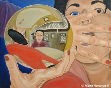 People Painting - Abducted By Dr. Mando by Armando Bettencourt