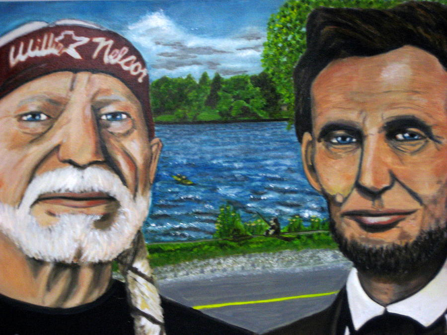 Abraham Lincoln Painting - Abe And Willie by Joshua Bloch