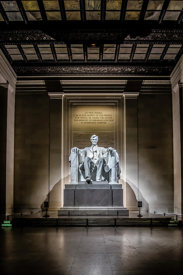 Abe Lincoln Under His Night Lights Photograph