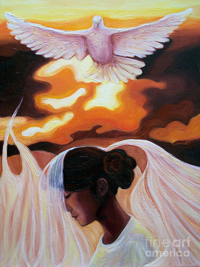 Psalm 91 Painting - Abiding Under His Shadow by Lisa Marie Dole Skinner