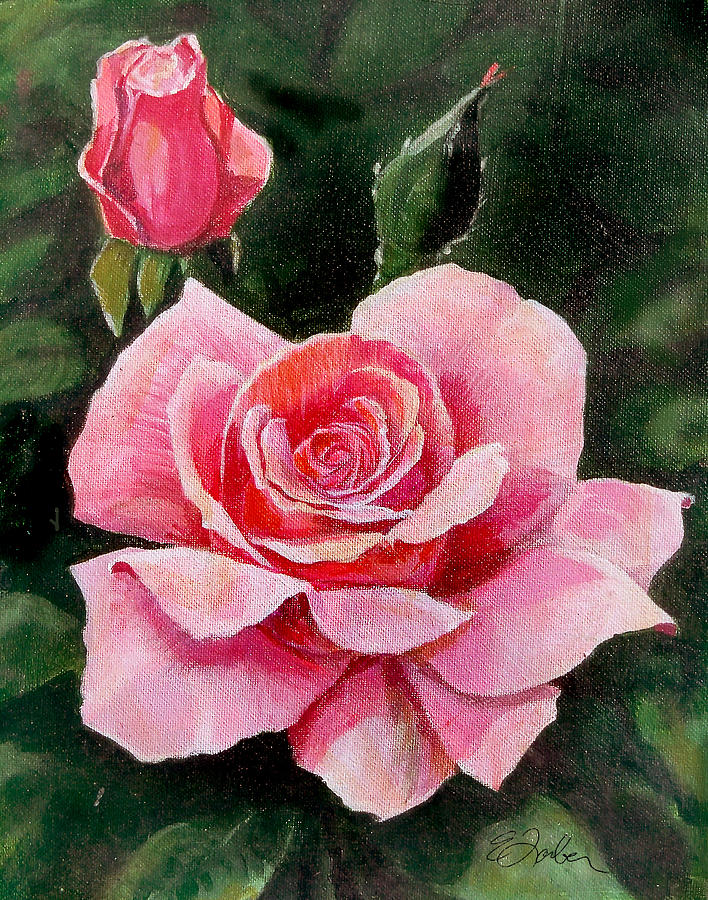 Floral Painting - Abigail Rose by Edward Farber