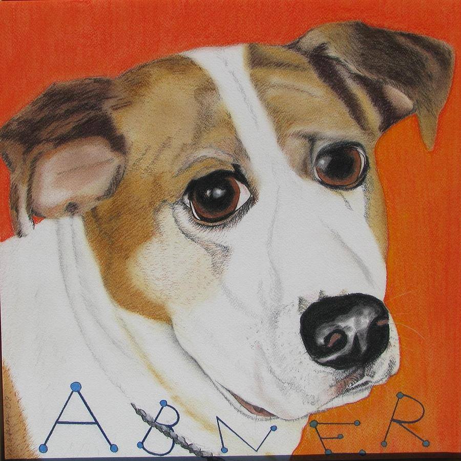 Dog Portrait Painting - Abner by Michelle Hayden-Marsan