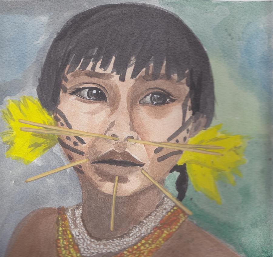 Venezolano Painting - Aborigen Venezolano by Ivonne Sequera