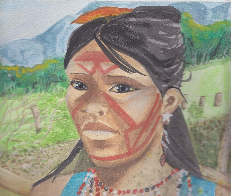 Mujer Painting - Mujer Indigena by Ivonne Sequera