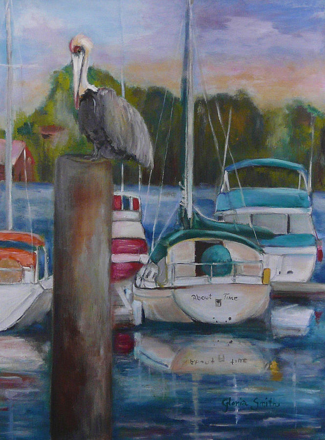 Sail Boats Painting - About Time by Gloria Smith