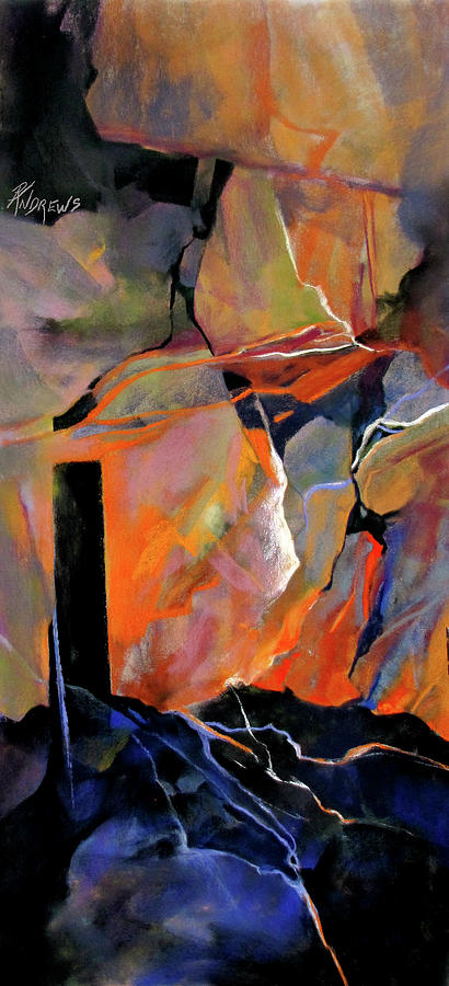 Bold Colors Painting - Above, Below And Beyond by Rae Andrews