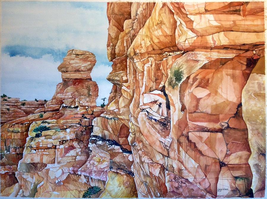 Above Canyonlands Campground Painting by Lance Wurst