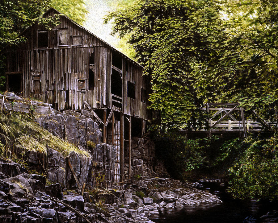 Old Grist Mill Painting - Above Cedar Creek by Craig Shillam