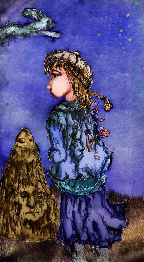 Girl Mixed Media - Above by Cynthia Richards