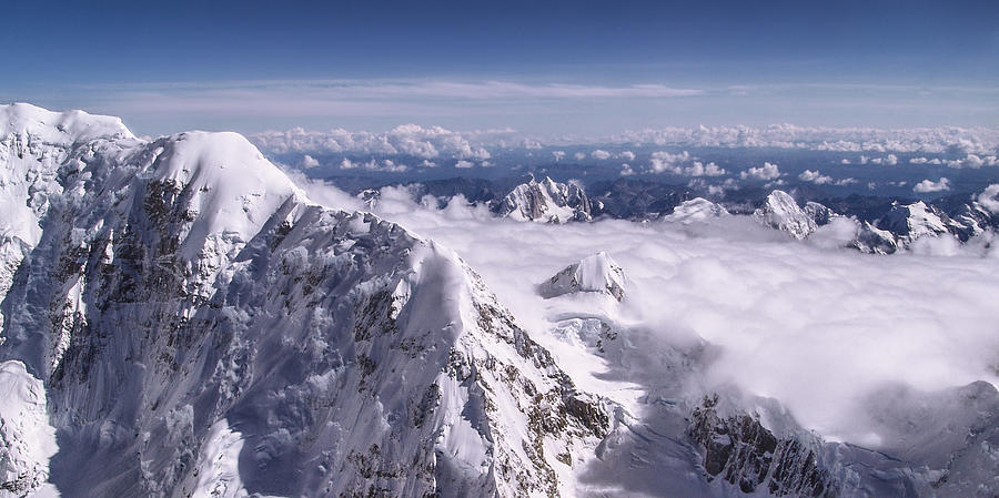 Denali Photograph - Above Denali by Chad Dutson