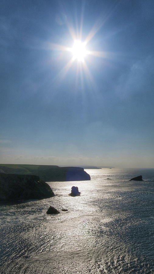 Cornwall Photograph - Above Portreath by Scott Waters