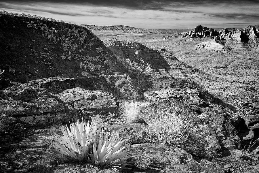 Black And White Photograph - Above Sedona by Jon Glaser