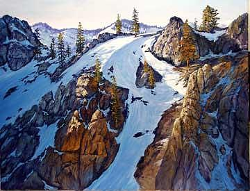 California Painting - Above Squaw Valley by Donald Neff