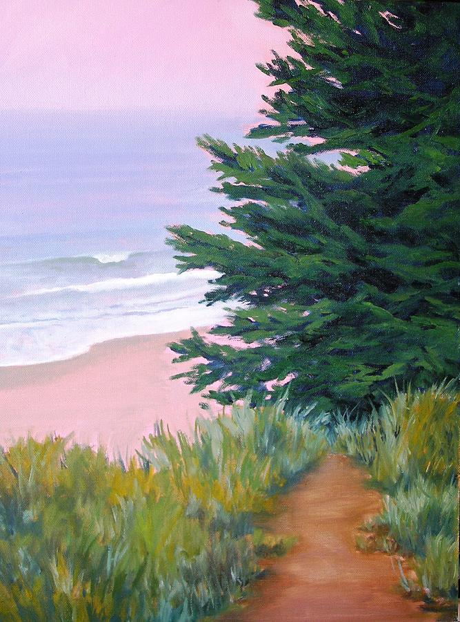 Ocean Painting - Above The Beach El Capitan by Dorothy Nalls