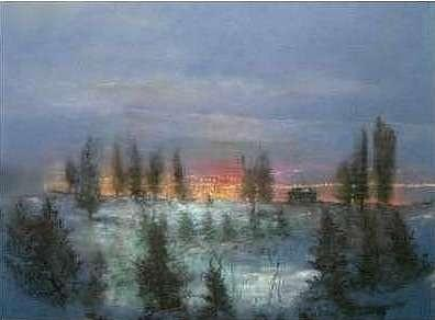 Pine Trees Painting - Above The City by Brian Higgins